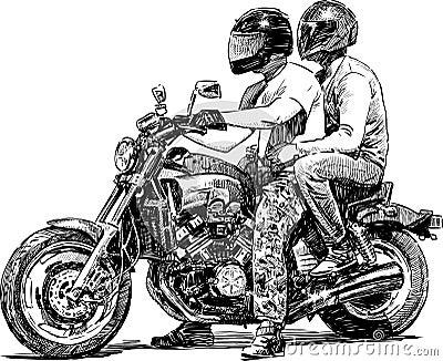 Couples sur la moto