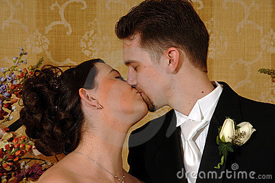 Couples Wedding Kiss