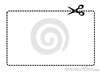 Coupon border vector