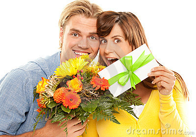 Coupon and flowers