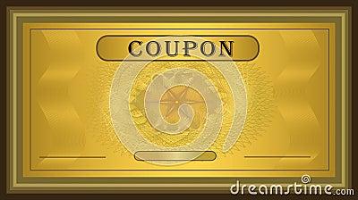 Coupon gold frame