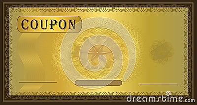 Coupon gold frame Brown