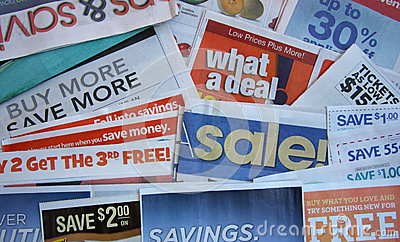Coupon offer with newspaper