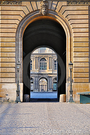 Cour Carrée through the gate of the Louvre