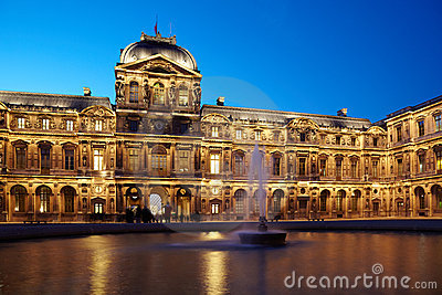 Cour carree of Louvre Editorial Stock Photo