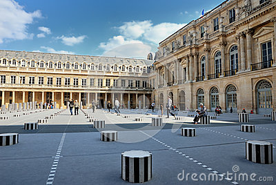 The cour inside the Royal Palace in Paris Editorial Photo