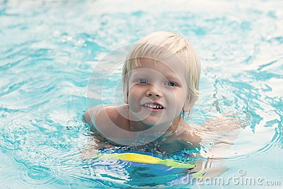 Courageous swimmer