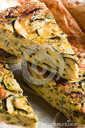 Courgette frittata