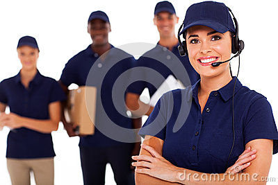 Courier service despatcher