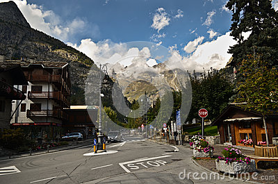 Courmayeur, Italy Editorial Stock Photo