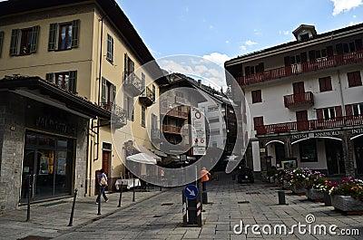 Courmayeur, Italy Editorial Photo