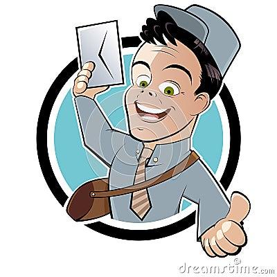 Courrier ou facteur de dessin animé