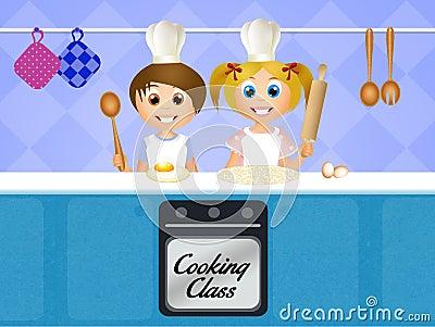 Cours de cuisine pour des enfants illustration stock - Cours de cuisine pour enfants ...