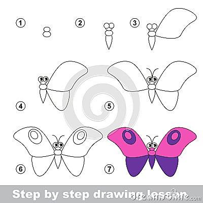 Cours de dessin comment dessiner un papillon illustration - Comment dessiner un train ...