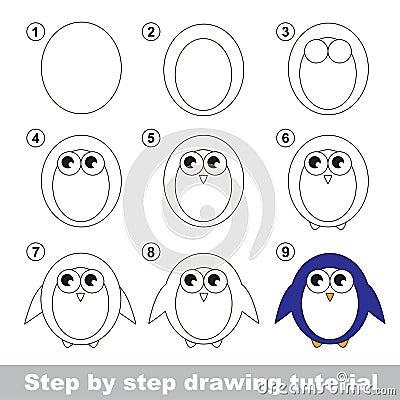 Cours de dessin comment dessiner un pingouin illustration de vecteur image 68319211 - Comment dessiner un ours ...