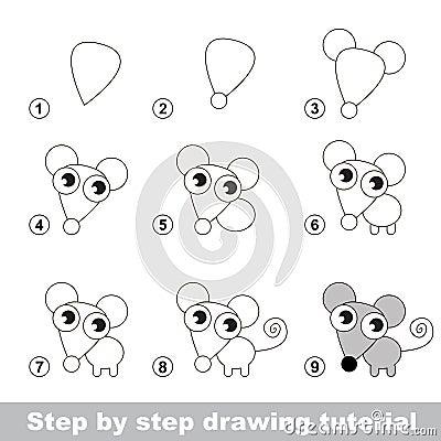 Cours de dessin comment dessiner une petite souris - Dessiner une souris ...