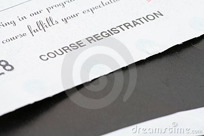 Course registration receipt
