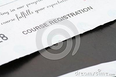 Course registration receipt