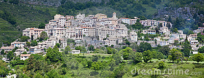Coursegoules hilltop village in Provence