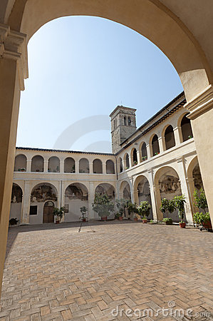 Court of ancient palace in Bevagna