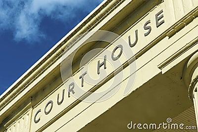 Court House entrance sign