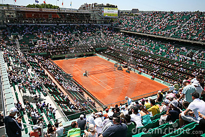 Court Philippe Chatrier of Roland Garros 2011 Editorial Stock Image