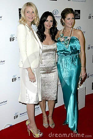 Courteney Cox, Gwyneth Paltrow, Rita Wilson Editorial Photography