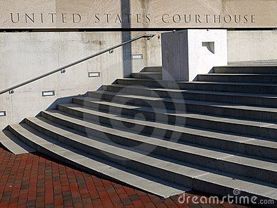 Courthouse entry steps