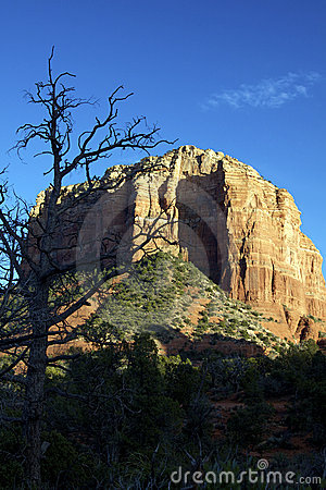 Courthouse Rock in Evening