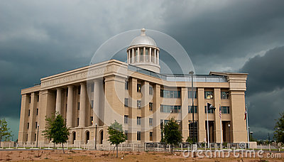 Courthouse and Storm Clouds Editorial Image
