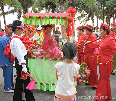 Courting day festival in hainan, china Editorial Image