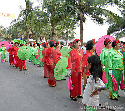 Courting day festival in hainan, china Editorial Stock Image