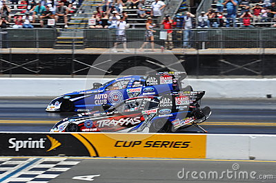 Courtney Force and Robert Hight Editorial Stock Image
