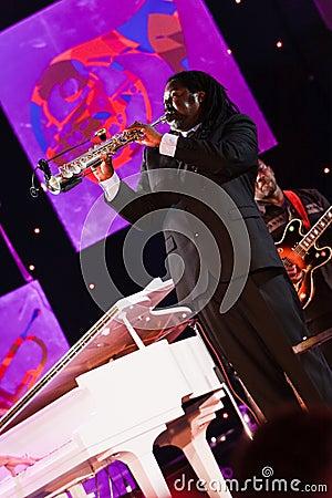 Courtney Pine, Jazz Koktebel Festival 2009 Editorial Stock Image