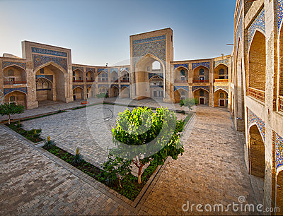 Courtyard of a Arabian madrasah