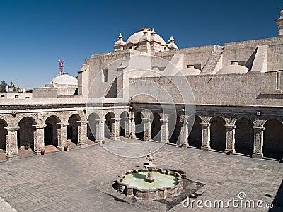 Courtyard at Arequipa, Peru