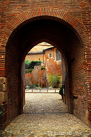 Courtyard of Cathedral of Ste-Cecile in Albi Franc
