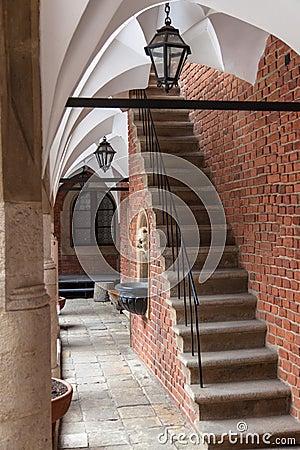 Courtyard of Jagiellonian University in Krakow