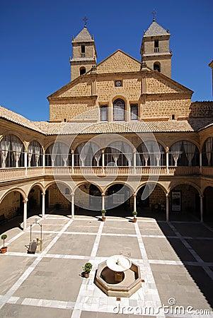 Courtyard, Hospital de Santiago, Ubeda, Spain. Stock Photo