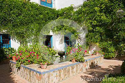 Courtyard of a  house in Cordoba, Spain