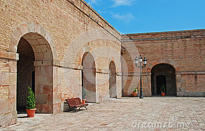 Courtyard of Montjuic Castle