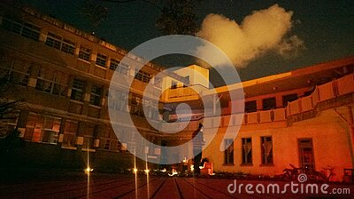 Courtyard At Night Free Public Domain Cc0 Image