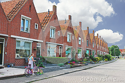 In the courtyard of a typical Dutch house. Editorial Image
