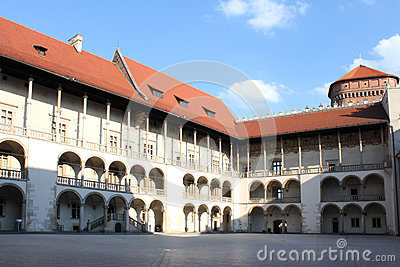 Courtyard of Wawel Castle, Krakow, Poland