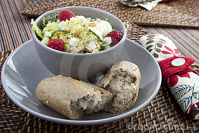 Couscous Salad with Bread