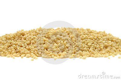 Couscous on white