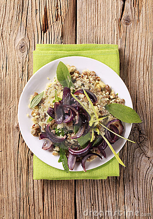 Free Couscous With Lentils And Spanish Onion Stock Image - 16598081
