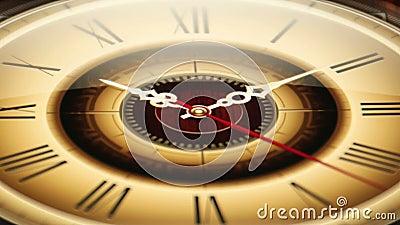 Coutil classique de l'horloge 03 accéléré banque de vidéos