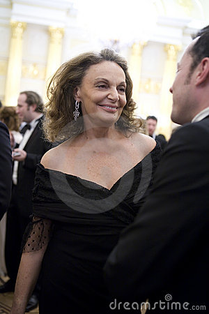 Couturier  Diane von Furstenberg Editorial Stock Photo