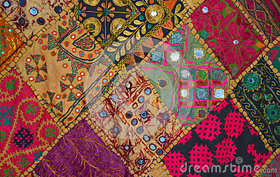 couvre lit de patchwork dans le style oriental photo stock image 49742191. Black Bedroom Furniture Sets. Home Design Ideas